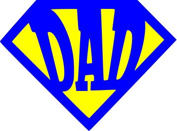 free svg cut file super dad logo the lady wolf svg