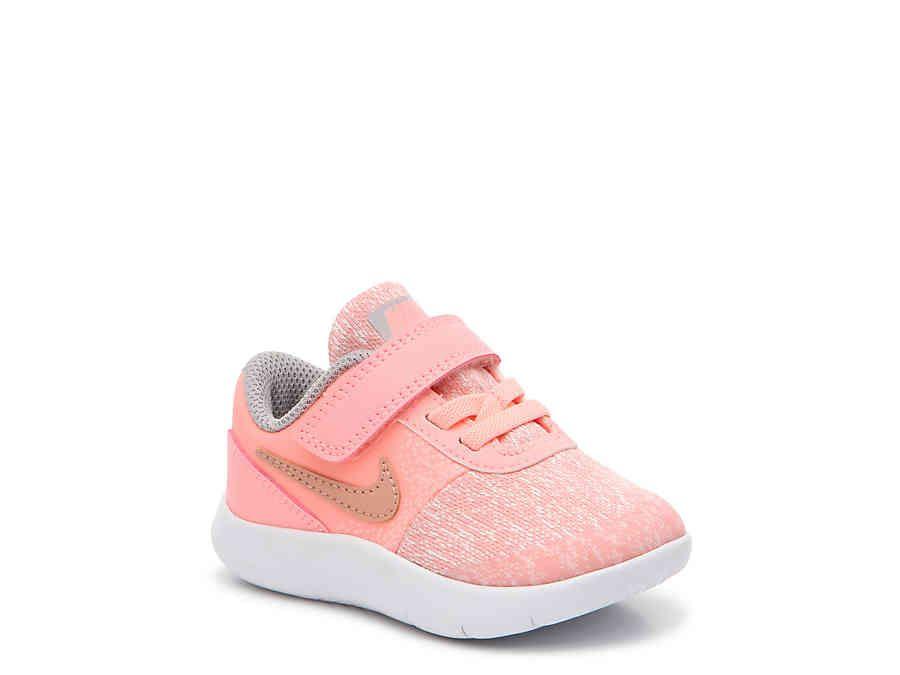 ed7a918f7b17 Girls Flex Contact Infant   Toddler Sneaker -Light Pink