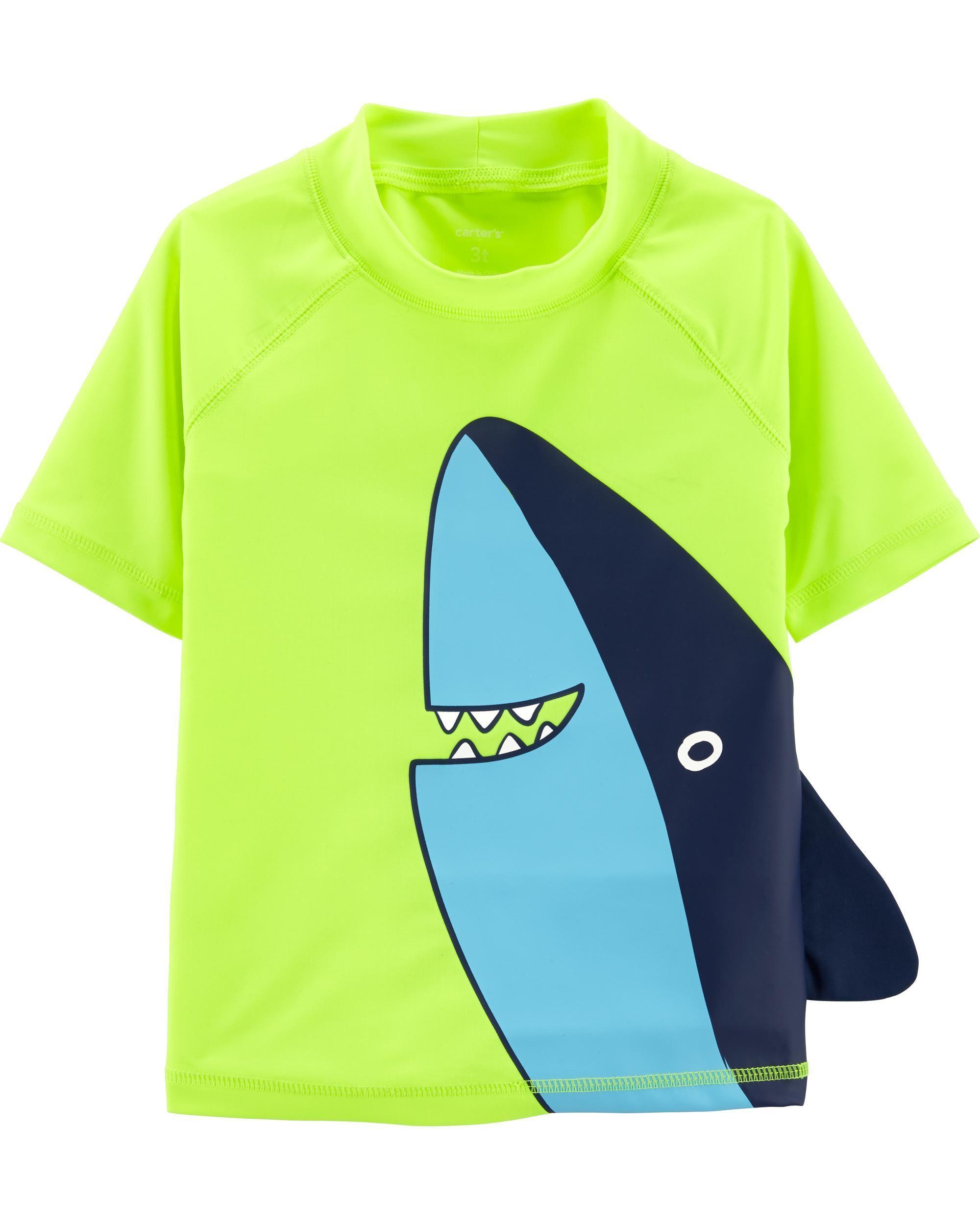 84c9caccb8 Shark Rashguard | SWIM | Baby boy swimwear, Boys swimwear, Carters ...