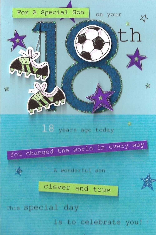 Special Son 18th Birthday Greeting Card Feliz cumpleaños