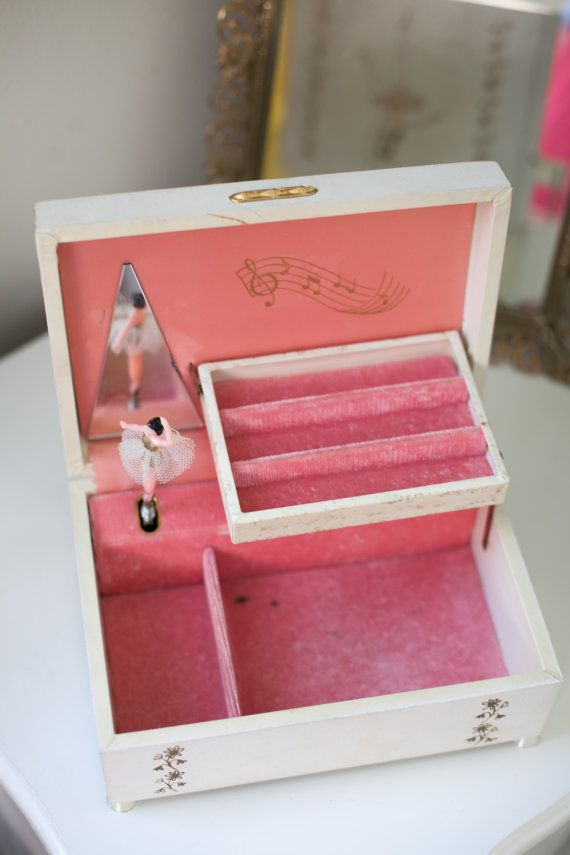 Vintage Ballerina Jewelry Box 70s 80s Childhood Pinterest