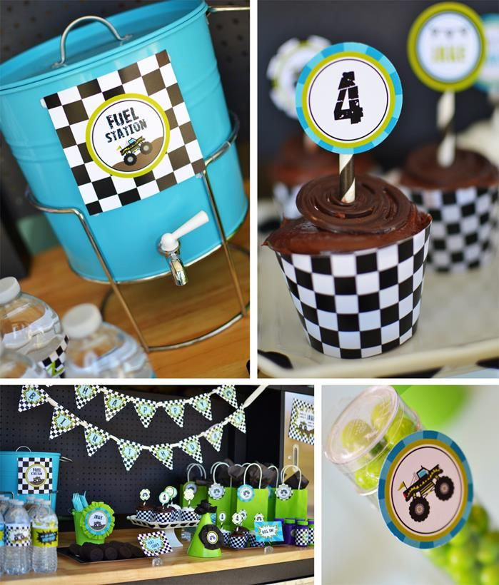 Monster Truck Party Planning Ideas Supplies Boy Decorations Idea Monster Trucks Birthday Party Trucks Birthday Party Construction Theme Birthday Party