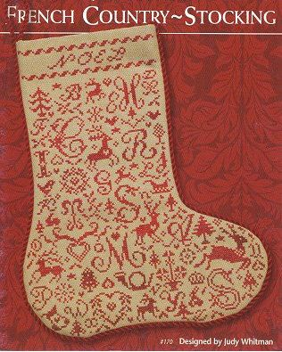 cross stitch pattern : french country stocking JBW designs christmas counted cross stitch. $7.00, via Etsy.