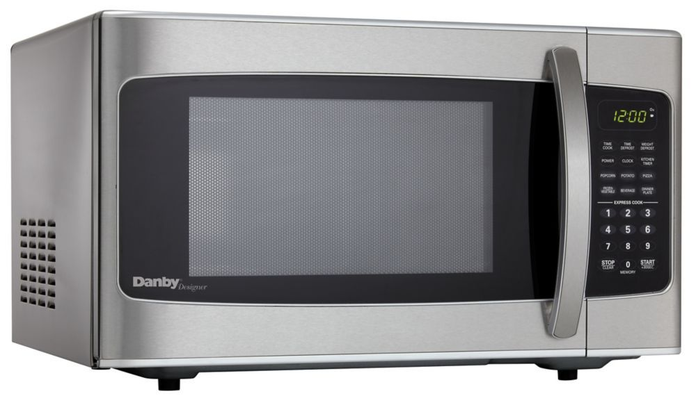 Designer 1 1 Cu Ft Countertop Microwave In Stainless Steel