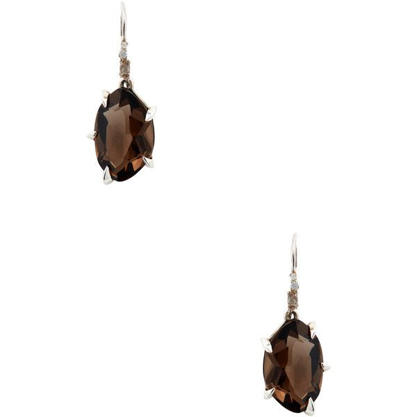 Alexis Bittar Fine Smoky Quartz Drop Earrings ($200) ❤ liked on Polyvore featuring jewelry, earrings, no color, drop earrings, alexis bittar jewelry, alexis bittar earrings, smoky quartz earrings and grey jewelry
