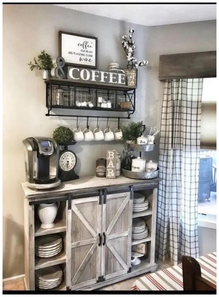 70+ Coffee Bar Ideas » Educabit #coffeebarideas