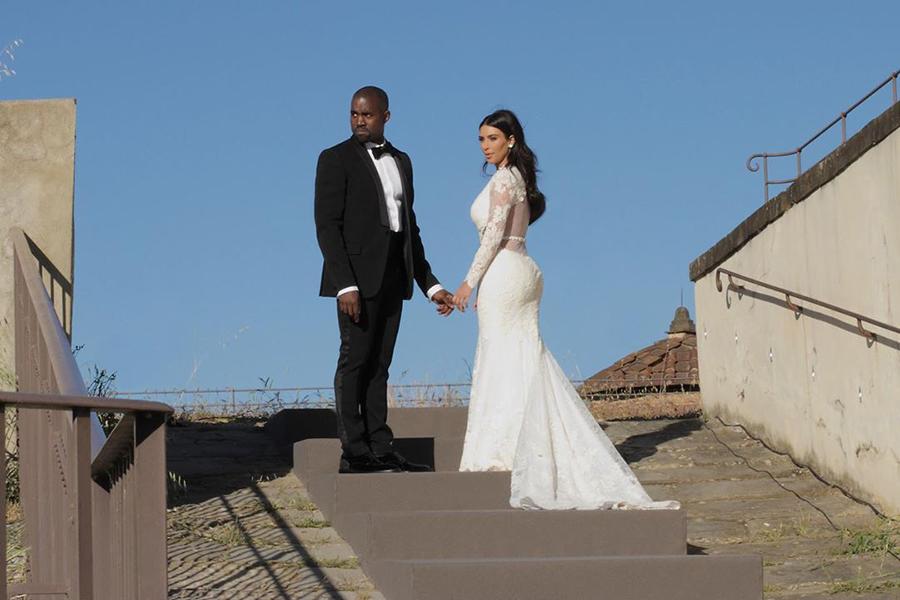 Kim Kardashian West And Kanye West S Dreamy Italian Wedding Kim Kardashian Wedding Dress Kim Kardashian Wedding Kanye West Wedding