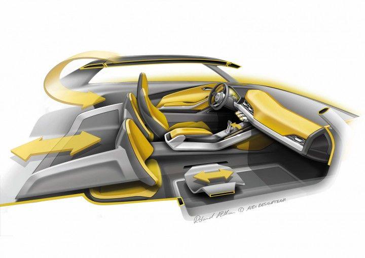 Audi Crosslane Coupe Concept Interior Design Sketch Design