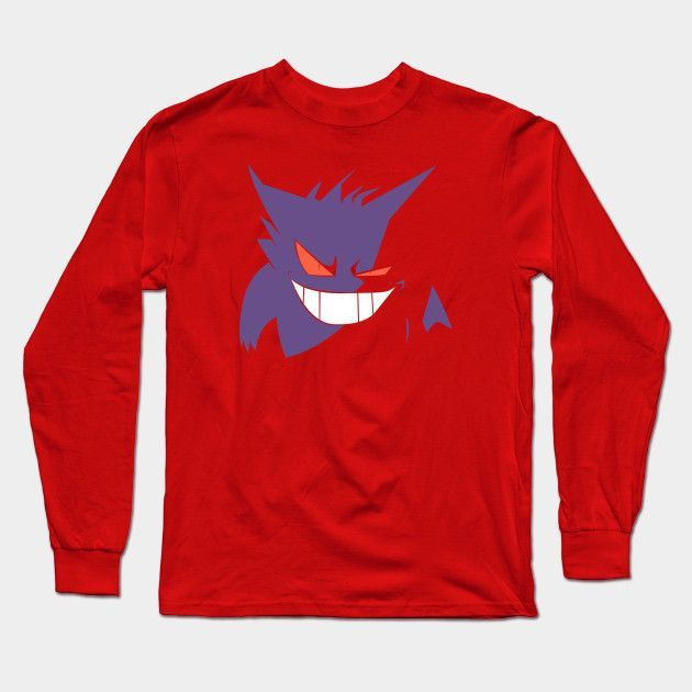 Gengar In The Dark Long Sleeve T-Shirt