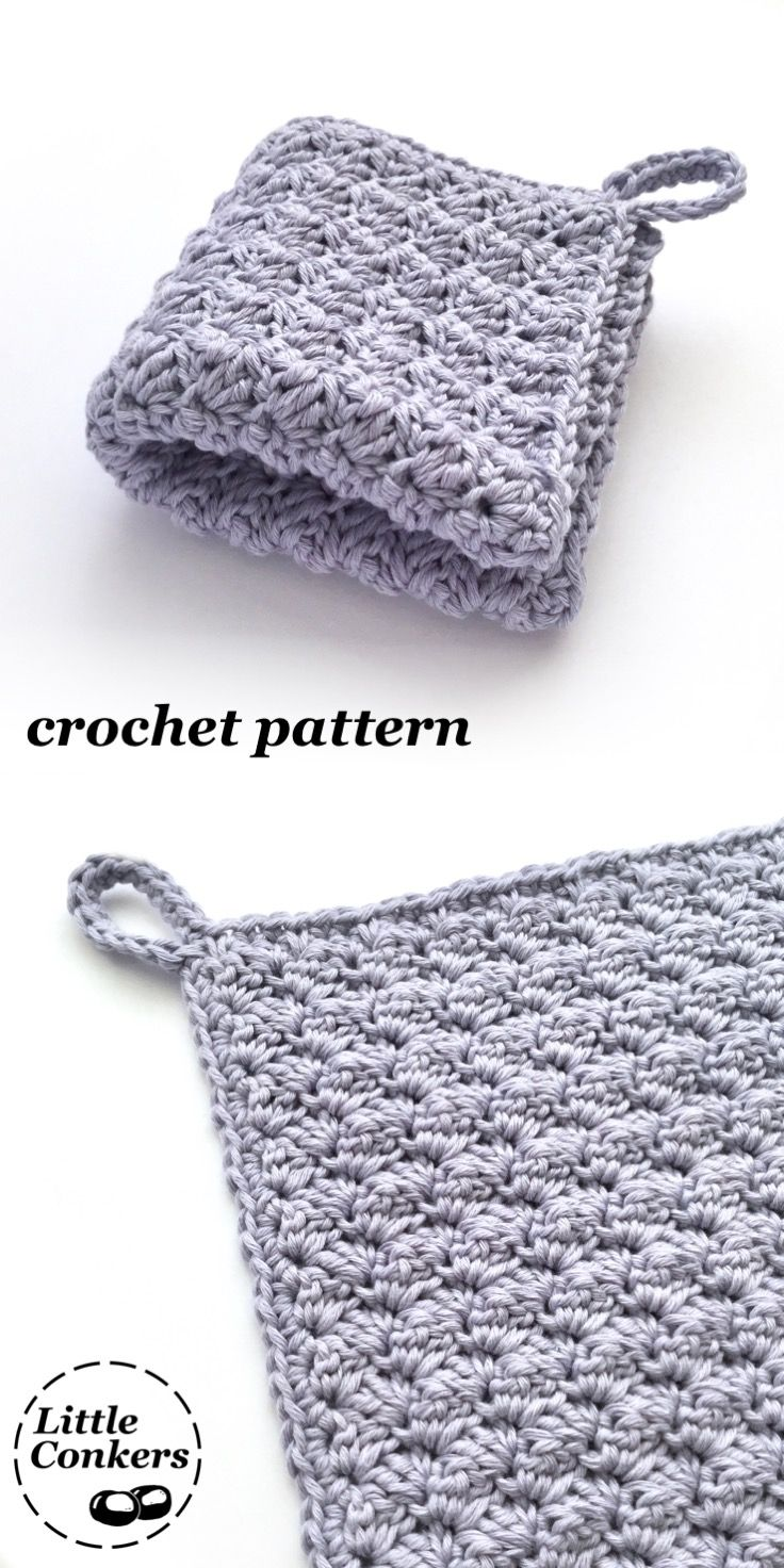 Crochet Washcloth Pattern / Spa Washcloth Crochet Pattern / Crochet ...