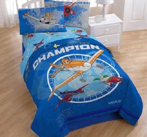 Disney Planes Bedroom Decor. 4 Piece Disney Planes Reversible Twin Bedding  Comforter Sheet Set