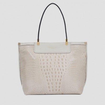 495295e18 Bolsa croco grande com alças de ombro | Smartbag Bolsas | Coleção ...