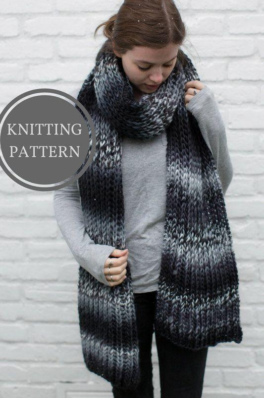 Husavik Scarf Knitting Pattern Easy Knitting Pattern Knit Scarf
