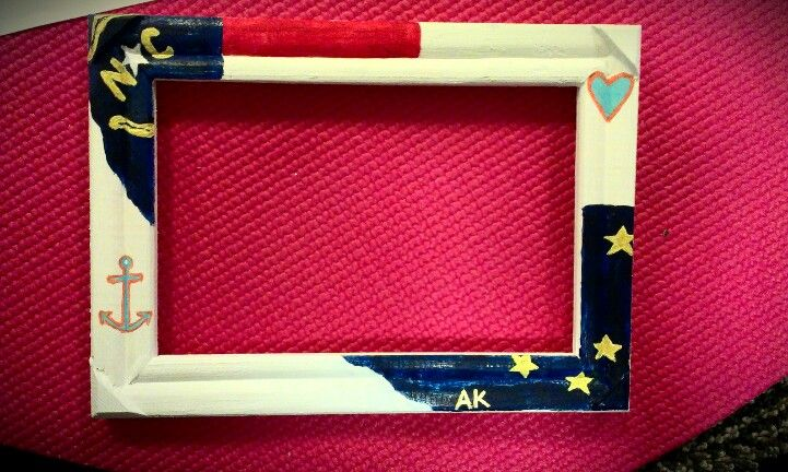 Handpainted Frame For My Boyfriend In The Coast Guard Can
