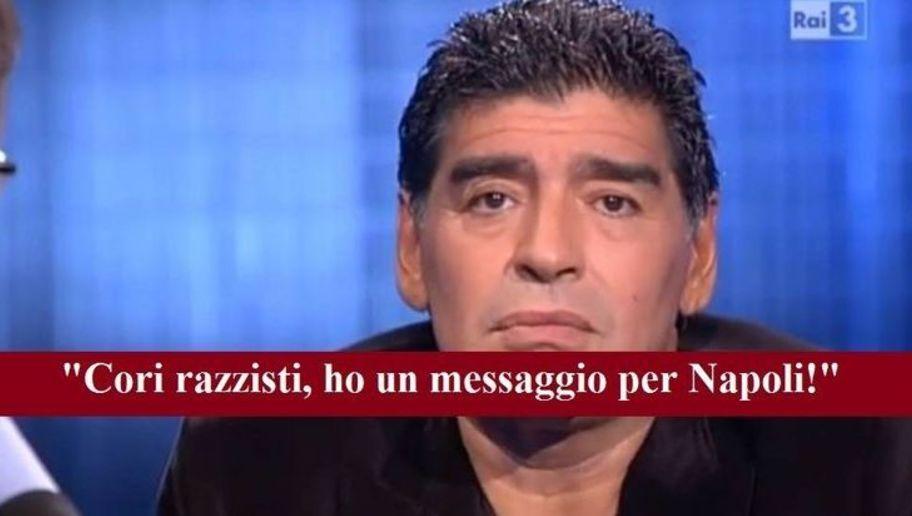 """Cori razzisti SHOCK contro i napoletani, le parole di Maradona sono DA BRIVIDI: """"Io con i cori..."""""""