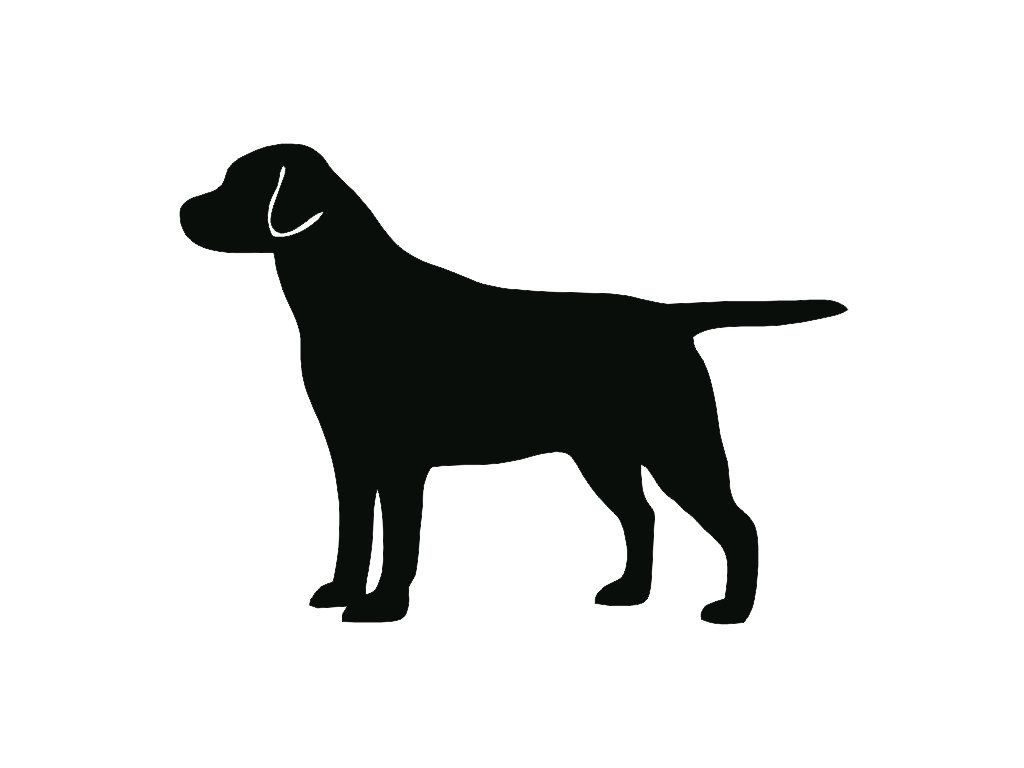 Lab Dog Outline Labrador retriever dog breed | Sign,prints ...