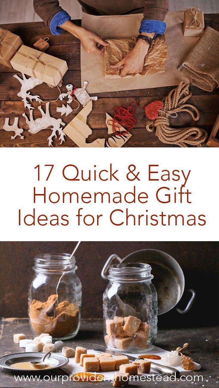 17 Quick & Easy Homemade Gift Ideas for Christmas   Easy ...