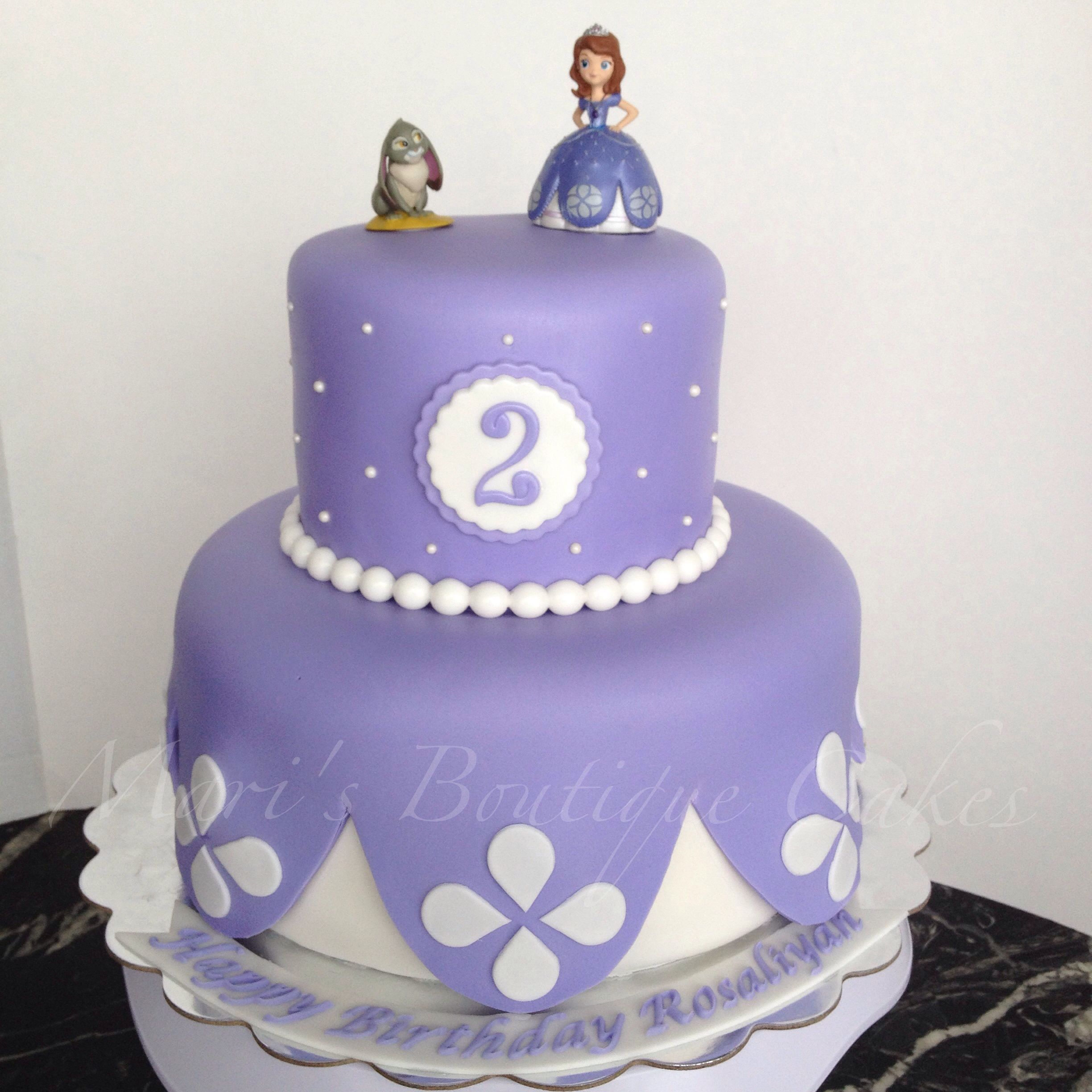 Pleasing Sophia The First Cake By Maris Boutique Cakes Sofia The First Funny Birthday Cards Online Overcheapnameinfo