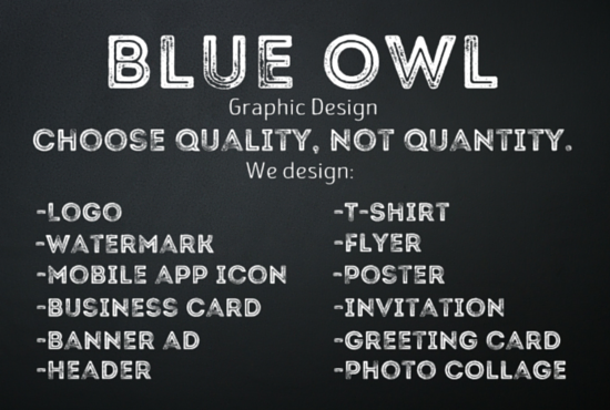 be your Professional GRAPHIC Designer by blueowl