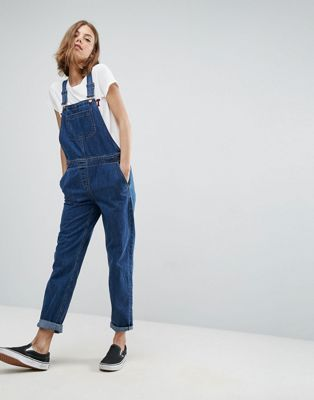 ASOS Denim Overall in Stonewash Blue