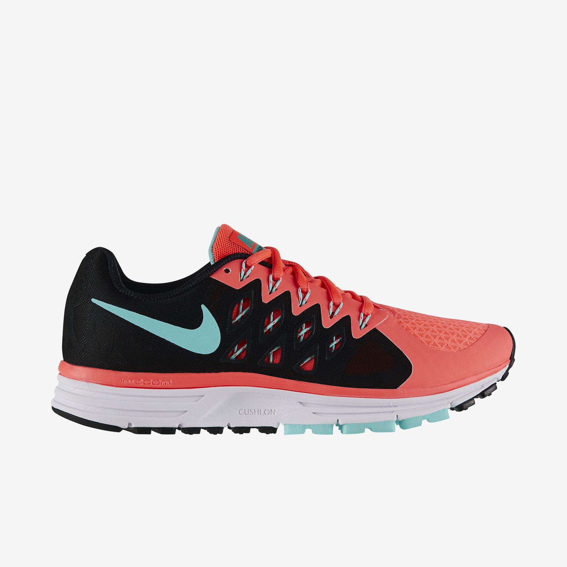 Nike Vomero 8 Orange & Black Athletic Shoes Size 10