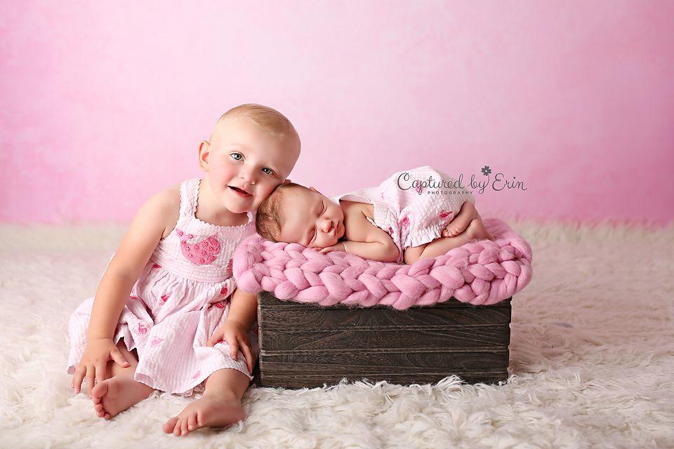 www.capturedbyerin.com #newbornwithsibling #sisters #newborngirl #newbornposing #newbornprop