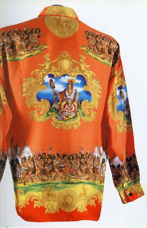 3cf5357c The Art and Craft of Gianni Versace ♢ Silk Shirt 1993 ♢ scanned by Timeless  Vintage Threads