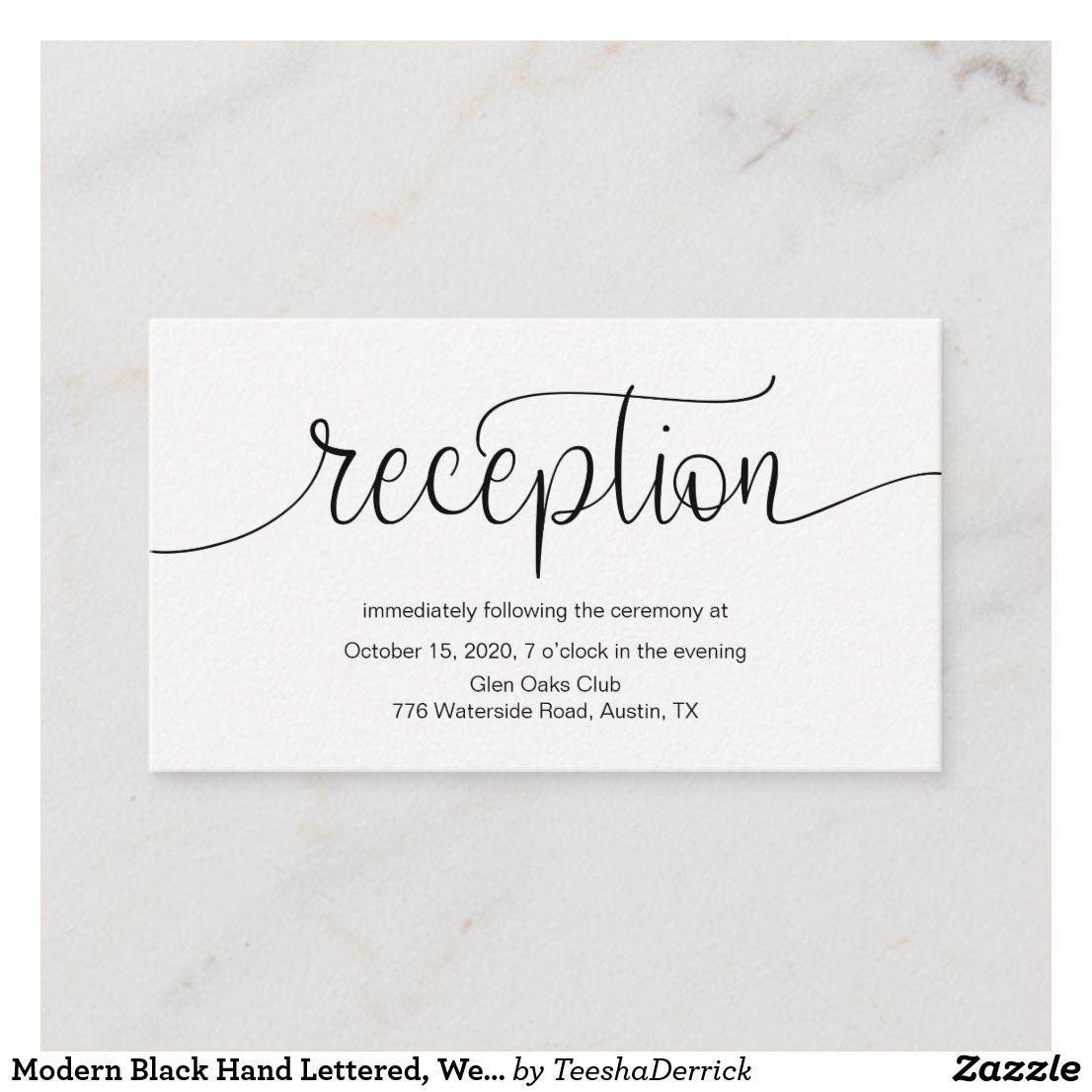 Modern Black Hand Lettered, Wedding Reception Enclosure