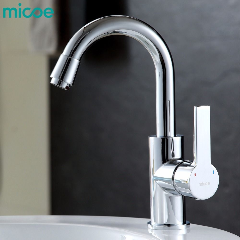 micoe hot and cold water kitchen faucet mixer single handle single ...