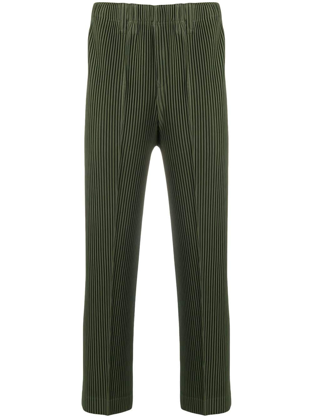 e55867466a9 HOMME PLISSE ISSEY MIYAKE HOMME PLISSÉ ISSEY MIYAKE PLEATED CROPPED  TROUSERS - GREEN.  hommeplisseisseymiyake  cloth