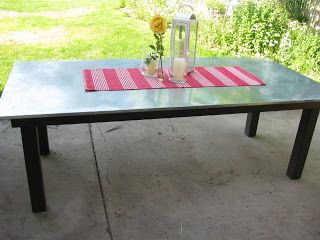 I'm in love with our homemade picnic table  @JOYS OF HOME: furniture I a-door