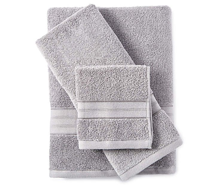 Living Colors Monument Gray 6 Piece Towel Set Towel Set Towel