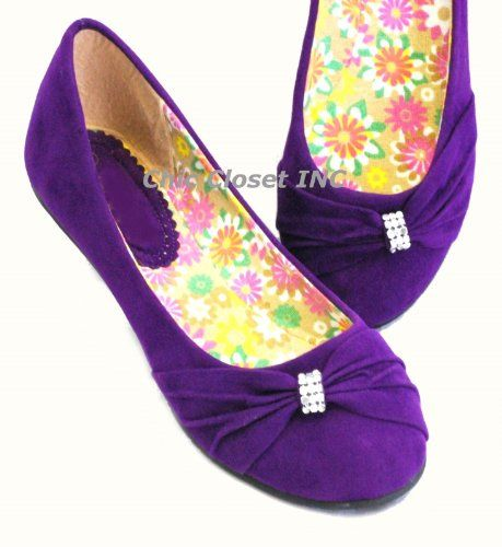 Lily 31 Ballet Flats Jewel Evening Low Heel 65 Purple CC