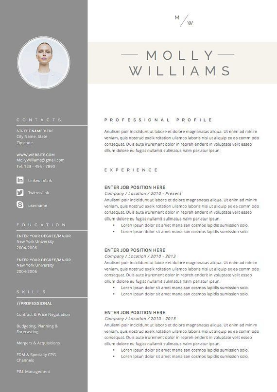 Professional Resume Template  Cover Letter, Cv, Professional Modern - job cover letter template