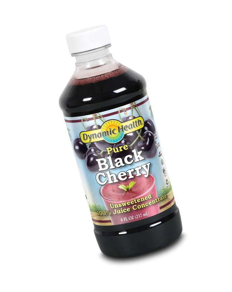 Dynamic Health Black Cherry Juice Concentrate 8 Ounce Bottle