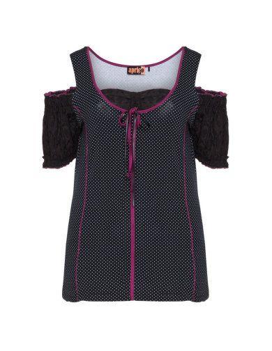 T-Shirt in Trachten-Optik von Aprico. Jetzt entdecken: http://www.navabi.de/shirts-aprico-t-shirt-in-trachten-optik-schwarz-weiss-33555-2428.html?utm_source=pinterest&utm_medium=social-media&utm_campaign=pin-it