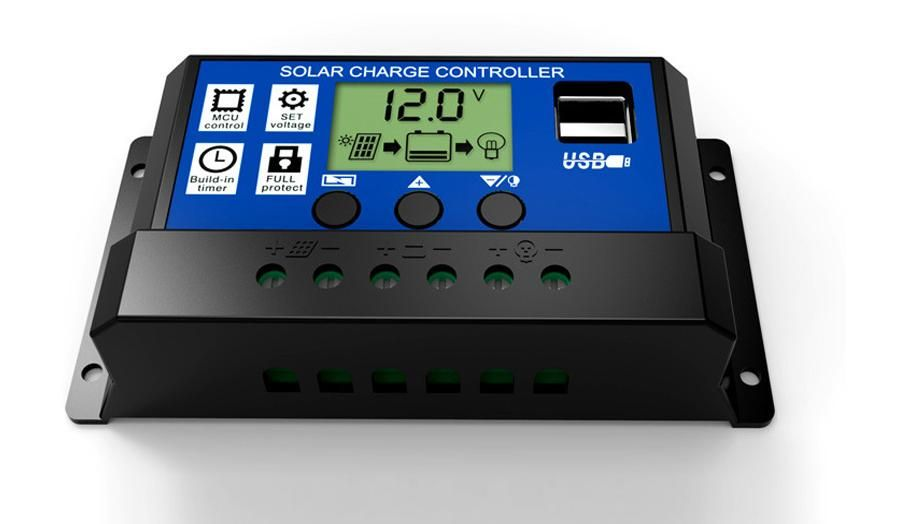 Click To Buy Solar Panel Systerm Controller 10a 20a 30a 12v 24v Lcd Pwm Solar Controller Battery Pv Cell Panel Charger Regulator Affiliate Usb Display