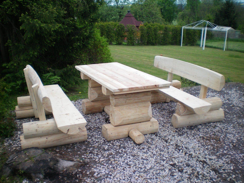 Gartenmöbel Holz Massiv Rustikal | Holz Gartenbank | Pinterest ...