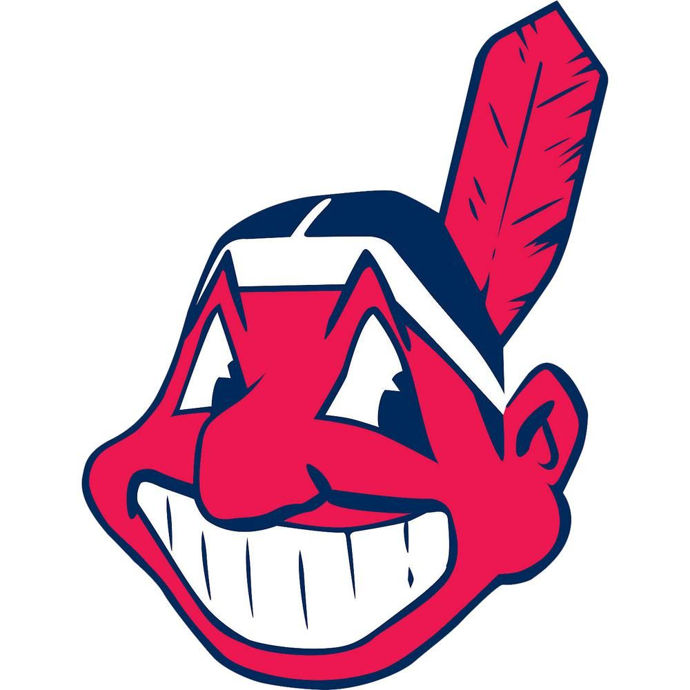 Fathead 45 In H X 35 In W Cleveland Indians Alternate Logo Wall Mural 63 63214 Cleveland Indians Logo Cleveland Indians Indians Baseball