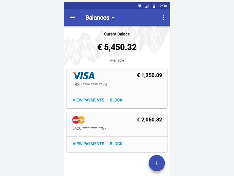 Mobile Banking App Material Design  Material Design Android