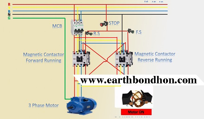 3 phase forward reverse switch wiring diagram  earth