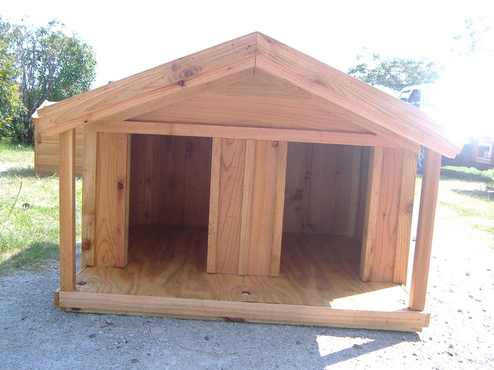 Our Custom Dog Houses With Porch Are Built To Last You Can Get These Built To Any Size Www Greenswoodwork Custom Dog Houses Wood Dog House Dog House With Porch
