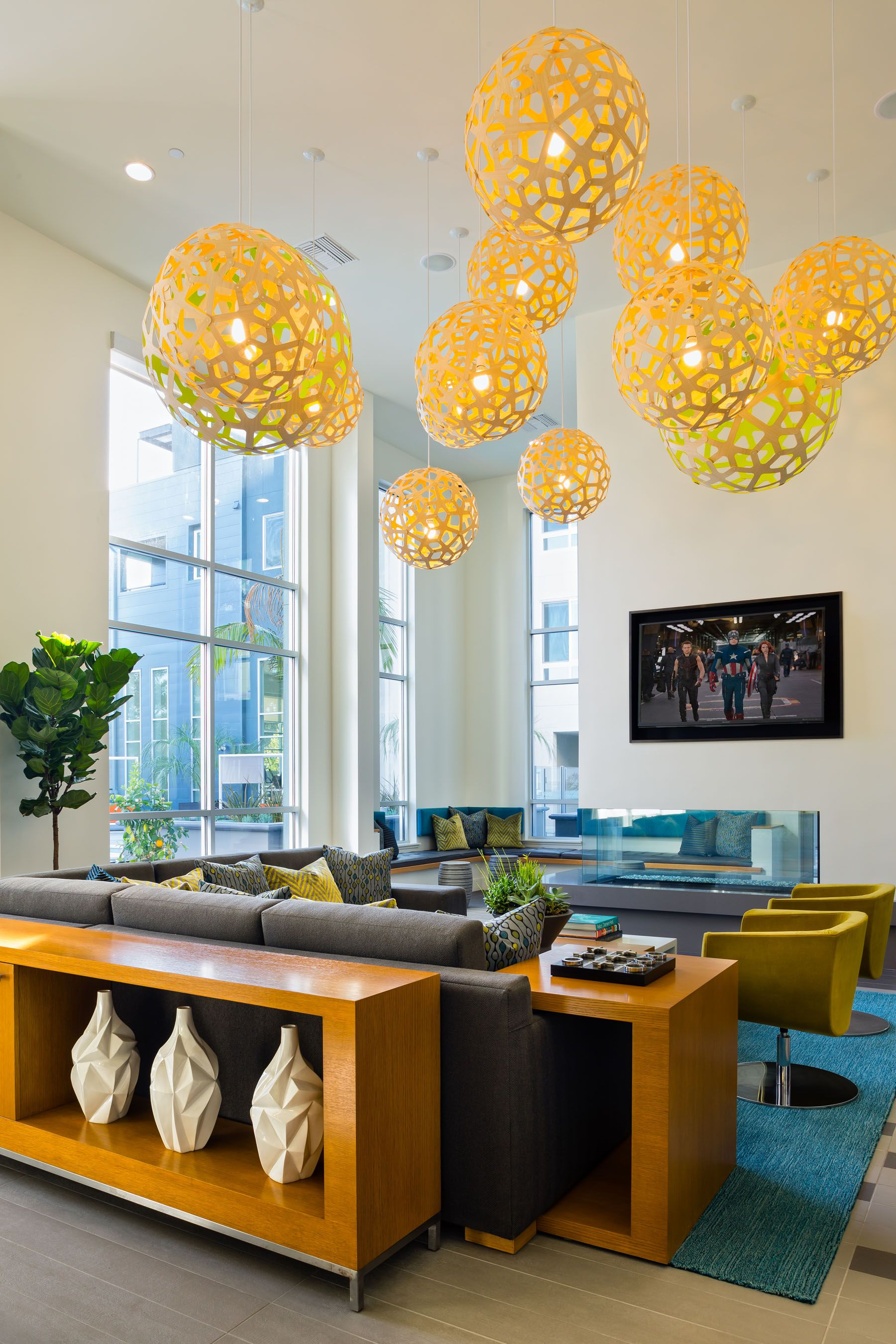 David trubridge coral pendant lights at the aire apartments in san david trubridge coral pendant lights at the aire apartments in san jose click image for aloadofball Gallery