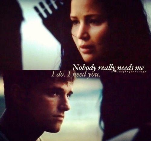Hunger Games Quote / Catching Fire / Peeta / Katniss
