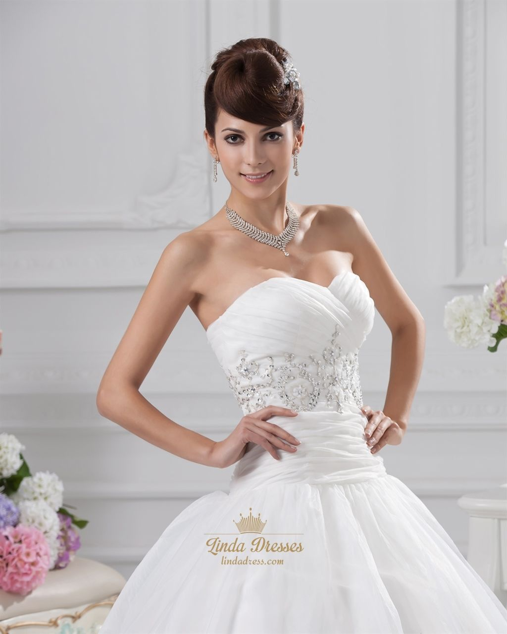 Wedding dresses springfield mo  Ivory Wedding Dresses Sweetheart Neckline Princess With Gold