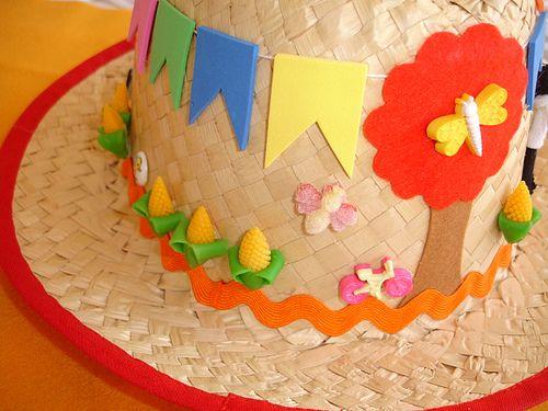 chapéu decorado para festa junina  3a63f7bca2a