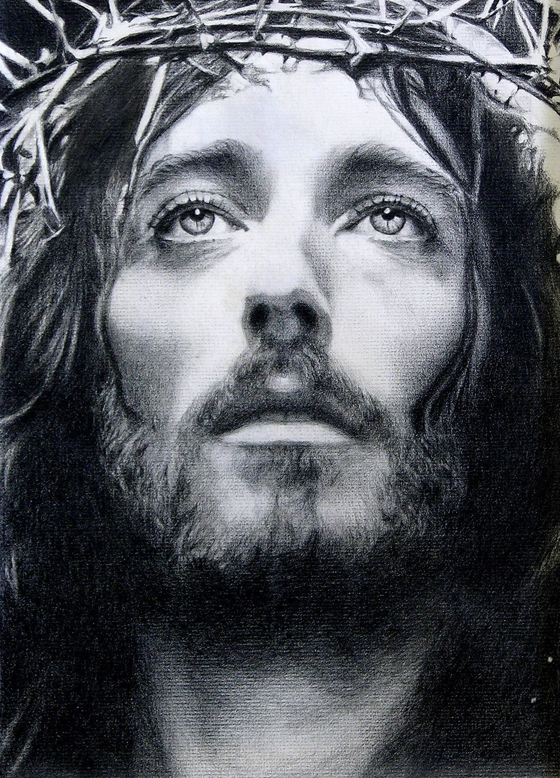 Jesus sketch drawing inspired from franco zeffirellis movie jesus of nazareth actor robert powell