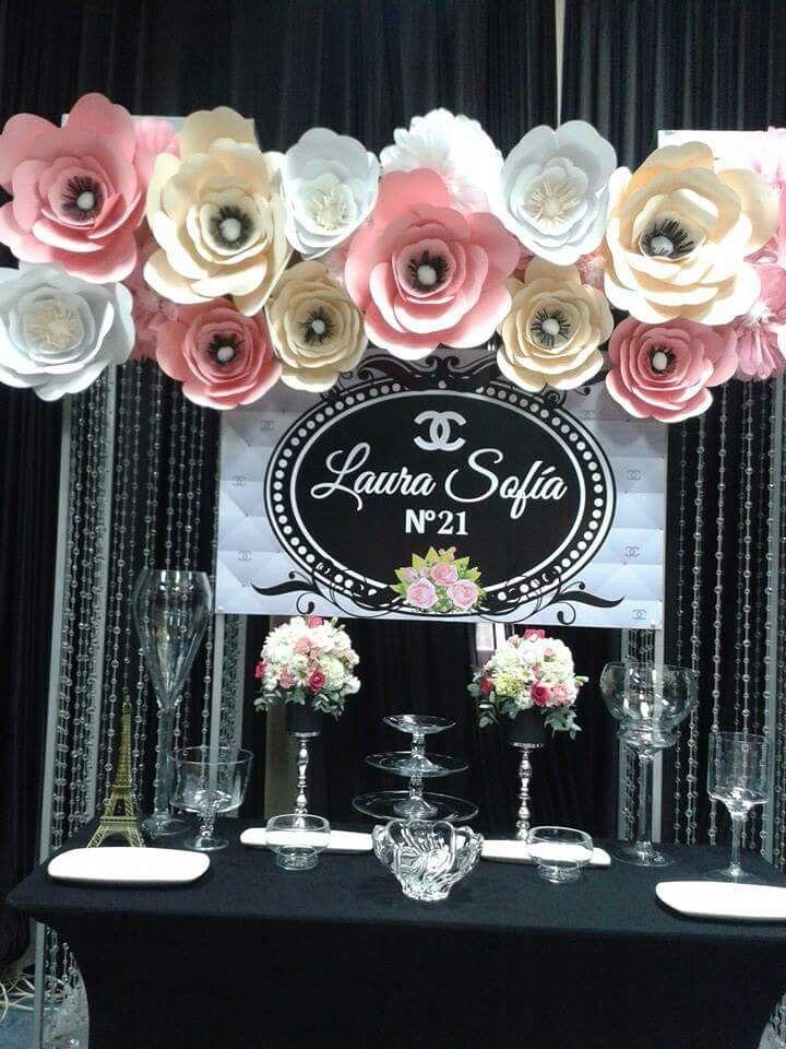 Flores de papel decoraciones pinterest flores de for Rosas de decoracion