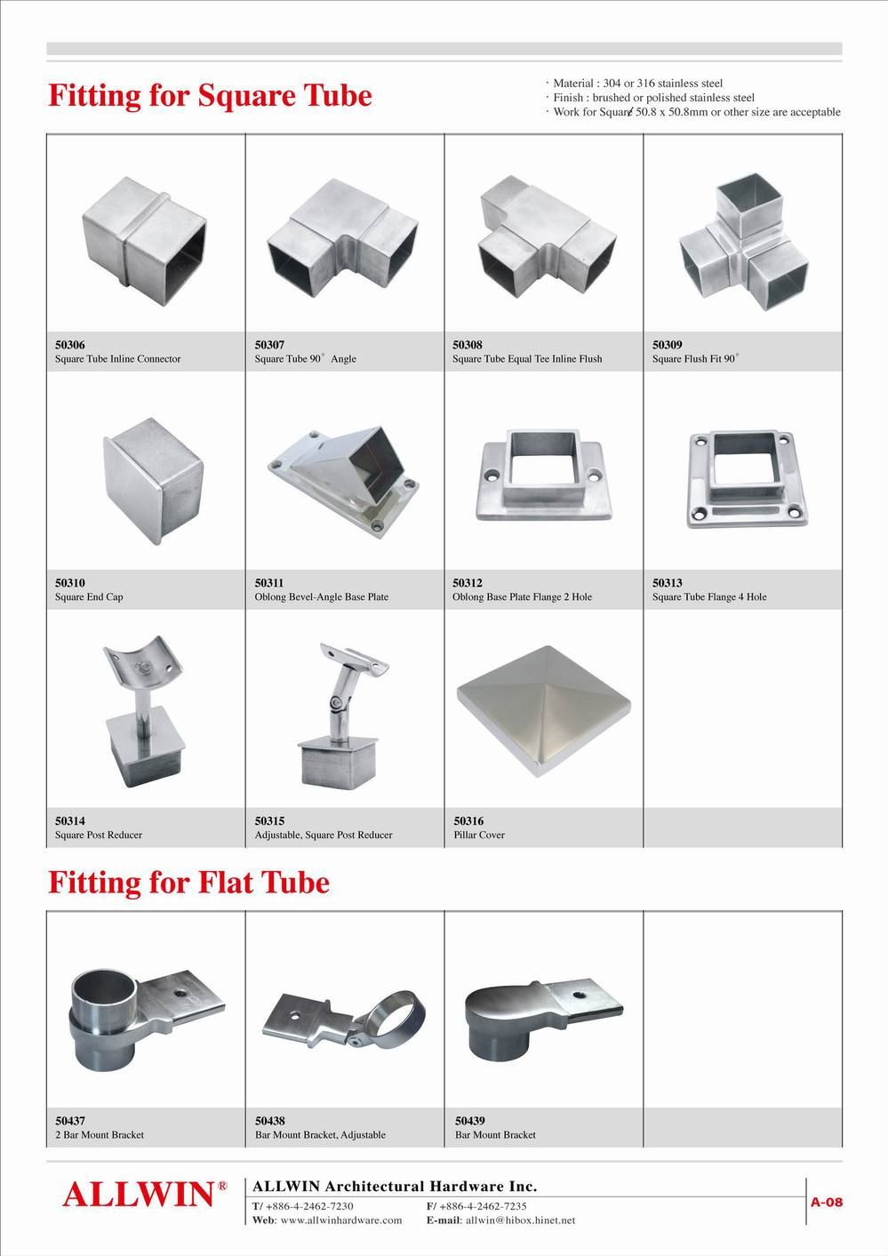 45 Degree Stainless Steel Angle Round tube Floor Flange