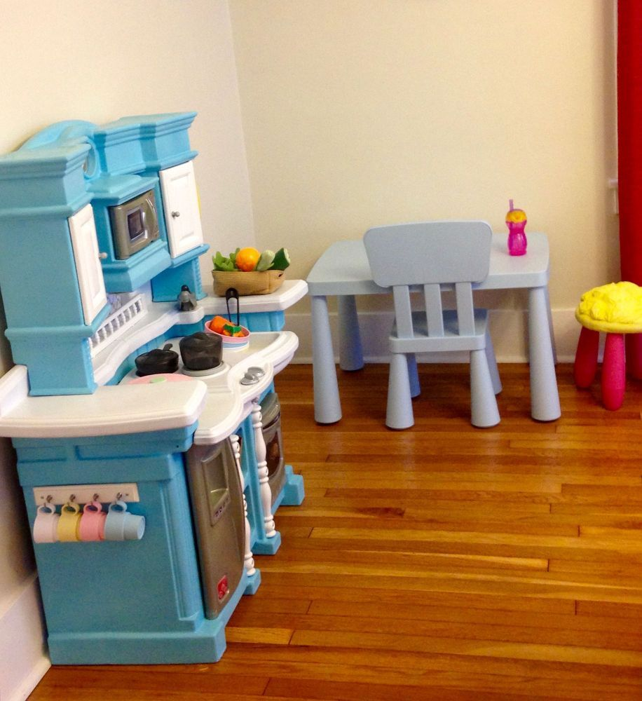 Upcycled Plastic Play Kitchen Play kitchen, Painting